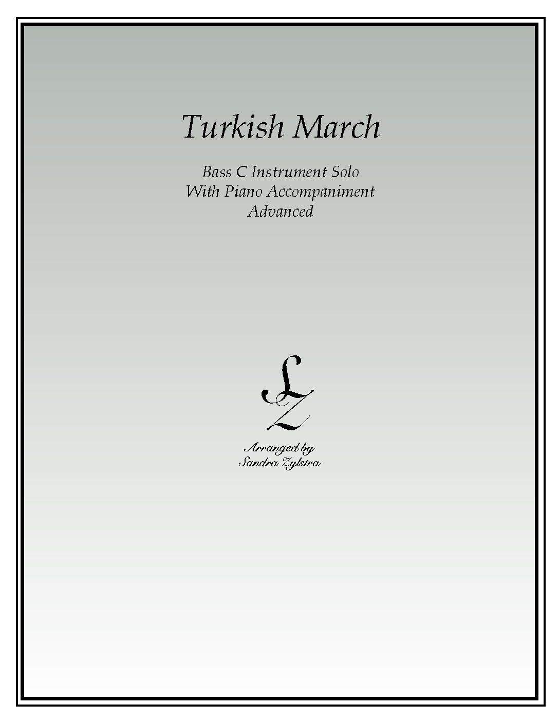 Turkish March -Bass C Instrument Solo