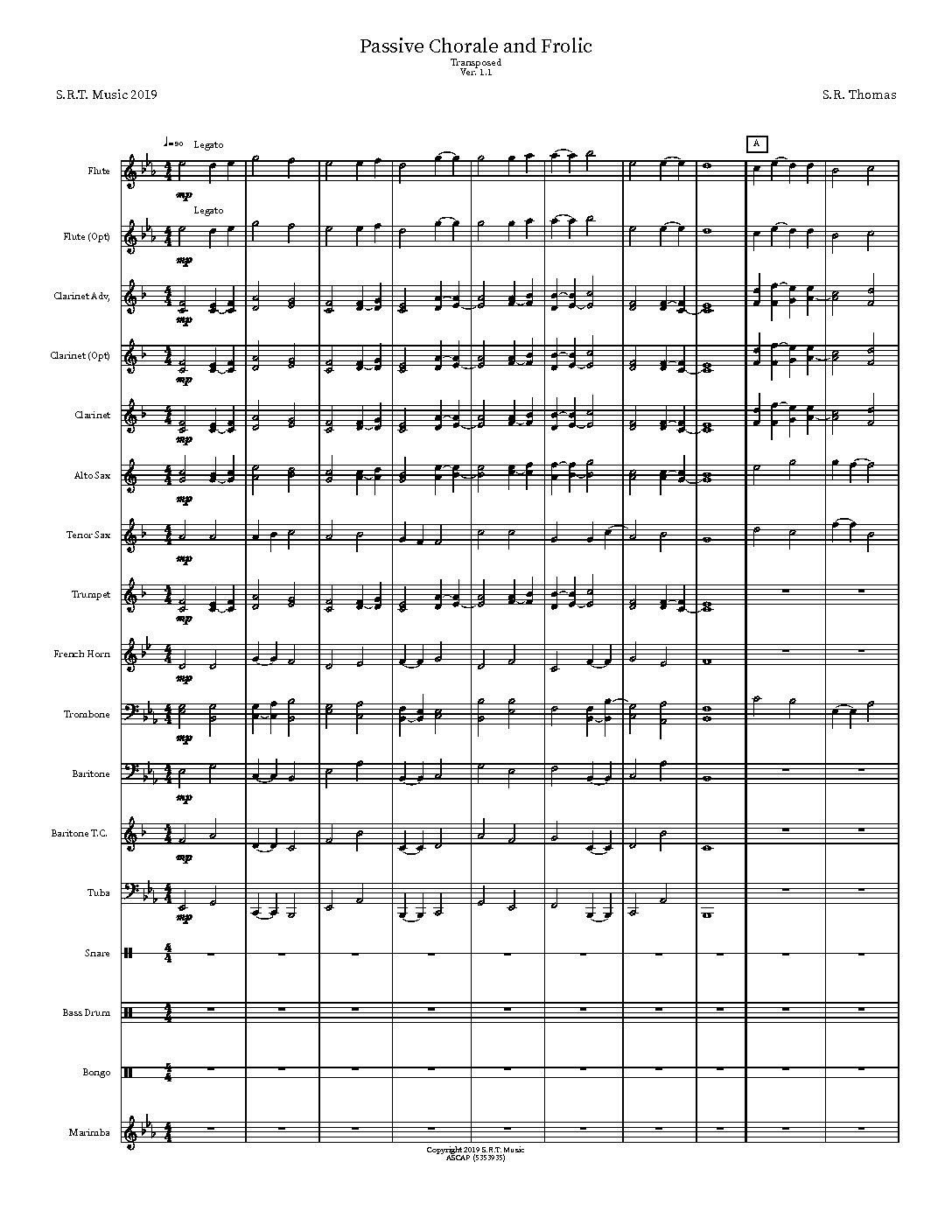 Passive Chorale and Frolic score SMMP pdf