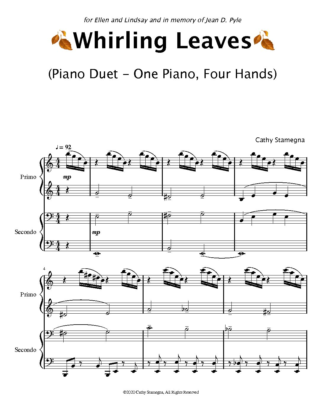 Whirling Leaves Piano Duet dragged pdf